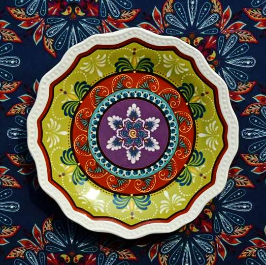 Earendil/Mexico country ceramics tableware/Tracy the snowflake shape decoration plate/salad plate  sc 1 st  AliExpress.com & Earendil/Mexico country ceramics tableware/Tracy the snowflake shape ...