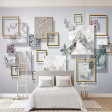 цена на Custom 3d wallpaper silk mural living room TV bedroom family background art design modern minimalist fashion background wall