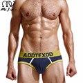 O sr. jim new algodão dos homens briefs underwear para homens de alta qualidade dos homens de moda sexy patchwork breve em venda dropshopping