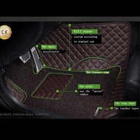 2018 new arrival 2 layers dust proof Car floor mats custom for audi q5, 5seats non slide easy clean pu leather car mat