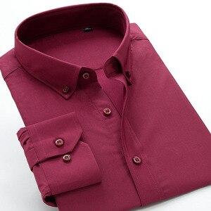 Image 2 - Neue comming herbst langarm Herren Bambus Faser shirts formale kleid shirts sehr große große plus größe XXL 5XL 6XL7XL8XL 9XL 10XL
