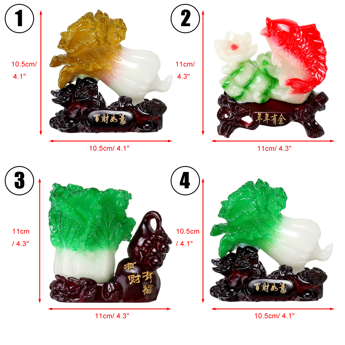 Us 10 18 22 Off Chinese Lucky Jade Cabbage Decoration Opened Housewarming Gifts Home Decorations Feng Shui Living Room Bedroom Desk Decoration In