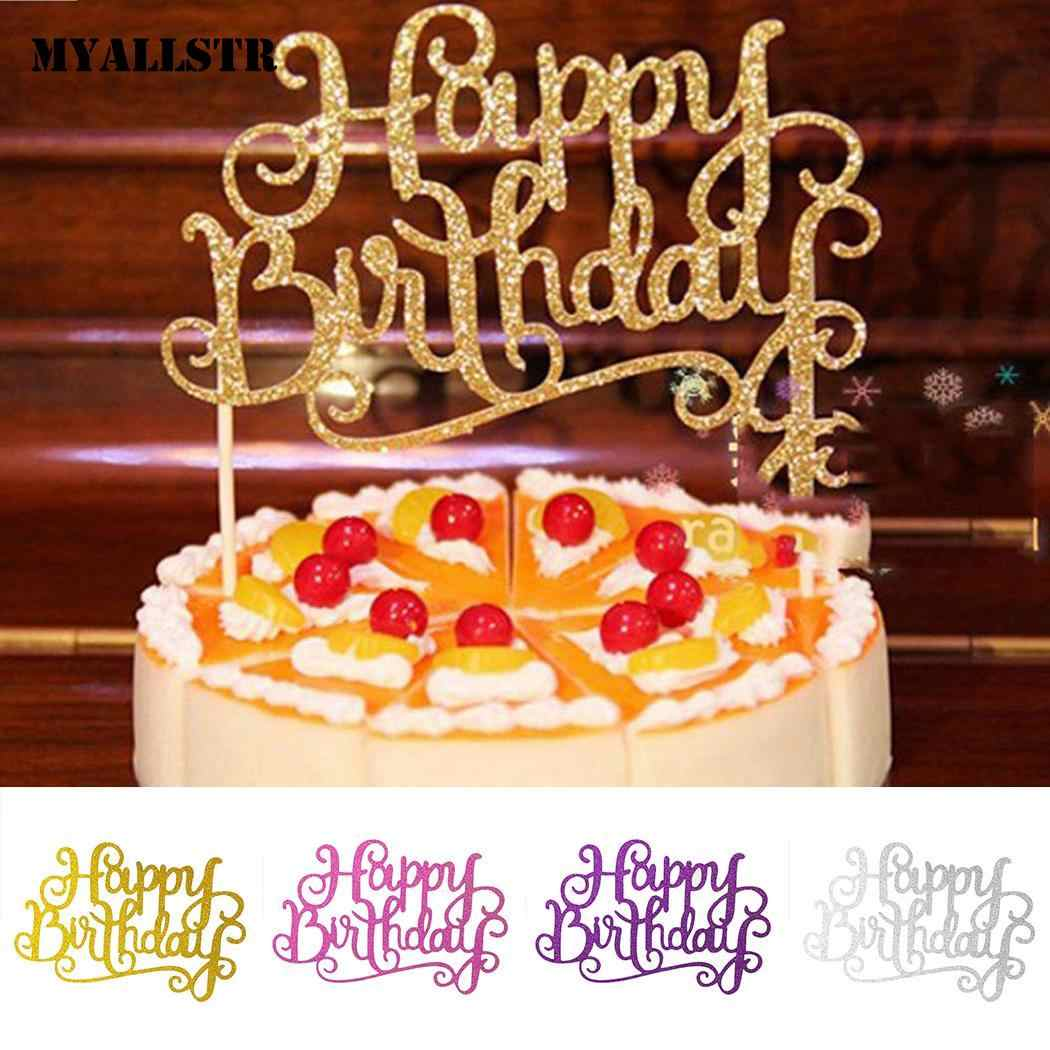 Detail Feedback Questions About 14cm Happy 5 Cake Paper Children Party Kids Topper Birthday Bamboo 13 1 Decoration 5inch For On