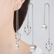 Everoyal Top Quality Pearl Earrings For Women Jewelry Vintage Lady Tassel Silver 925 Girls Long Accessories Hot