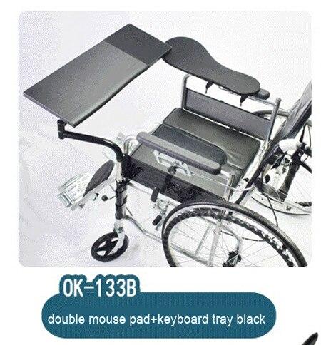 OK133 Wheechair cahier de serrage/Support d'ordinateur Support de clavier + chaise bras de serrage tapis de souris Lapdesk