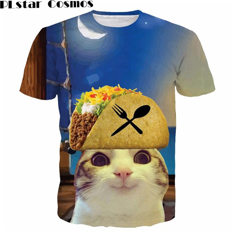 PLstar Cosmos Cat Cobain Unisex 3D TShirt Animal Cat TShirts Short Sleeve Summer Tops for Women/men Tops Plus size 5XL
