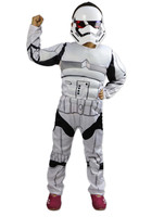 New Arrival Child Deluxe Star Wars The Force Awakens Children Leather Stormtroopers Costumes With Mask Gloves