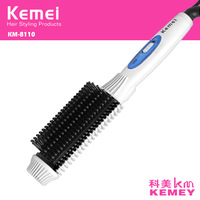 Z030 Kemei 2 In 1 Hair Curler With Brush Roller Prancha De Cabelo Styling Tools Ionic