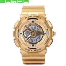 SANDA LED Digital Cuarzo de Los Hombres 2016 Deporte Militar Relojes de Primeras Marcas de Lujo Hombre Reloj Digital de reloj Relogio Masculino