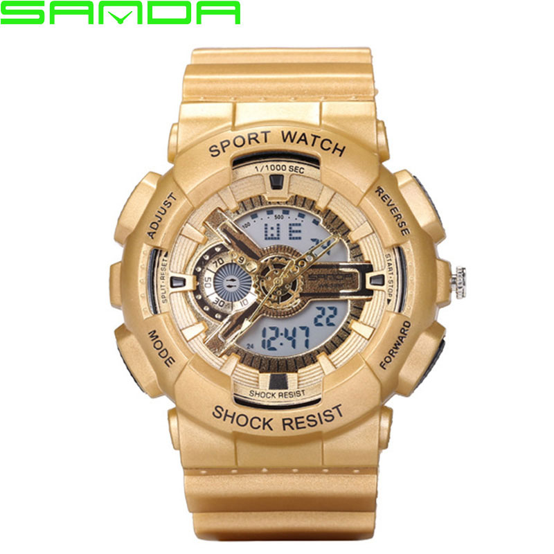 SANDA LED Digital Quartz Watch Men 2018 Sport Military Wrist Watches Top Brand Luxury Male Clock Digital-watch Relogio Masculino criancas relogio 2017 colorful boys girls students digital lcd wrist watch boys girls electronic digital wrist sport watch 2 2