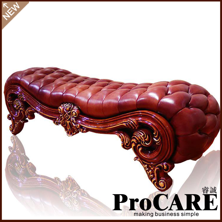 European Style Wooden Carved Bed Tail Leather Leather Shoes Stool Bench  Stool Bedroom Luxury Leather Sofa Leisure Stool Stool. Online Get Cheap Modern Bed Bench  Aliexpress com   Alibaba Group