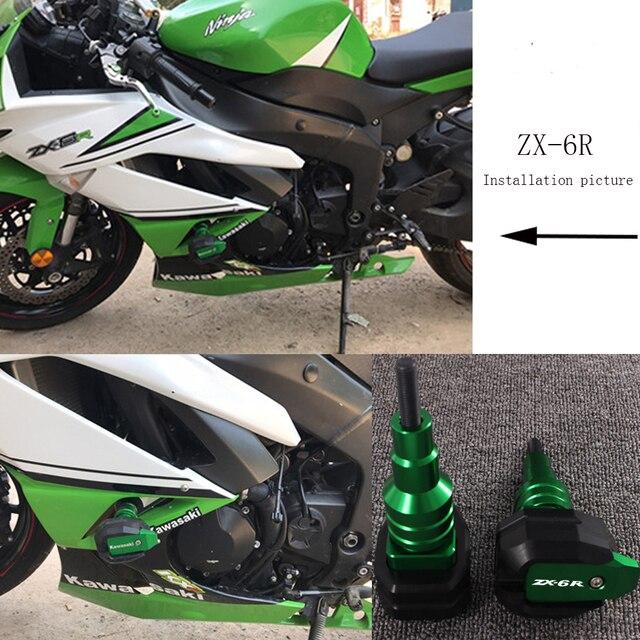 For Kawasaki Ninja Zx 6r Zx6r 1995 2017 Motorcycle Falling Protection Frame Slider Fairing Guard Anti Crash Pad Protector