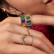Fashion Crystal Ring Alloy Blue Green Colorful Personalized Vintage Geometric Rings For Women Female Party Wedding Gift Jewelry vintage alloy faux sapphire geometric ring for women