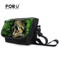 Fashion Men Messenger Bags Children Boys 3D Animals Dinosaur Cross Body Bag Casual Tiger Shoulder Bag