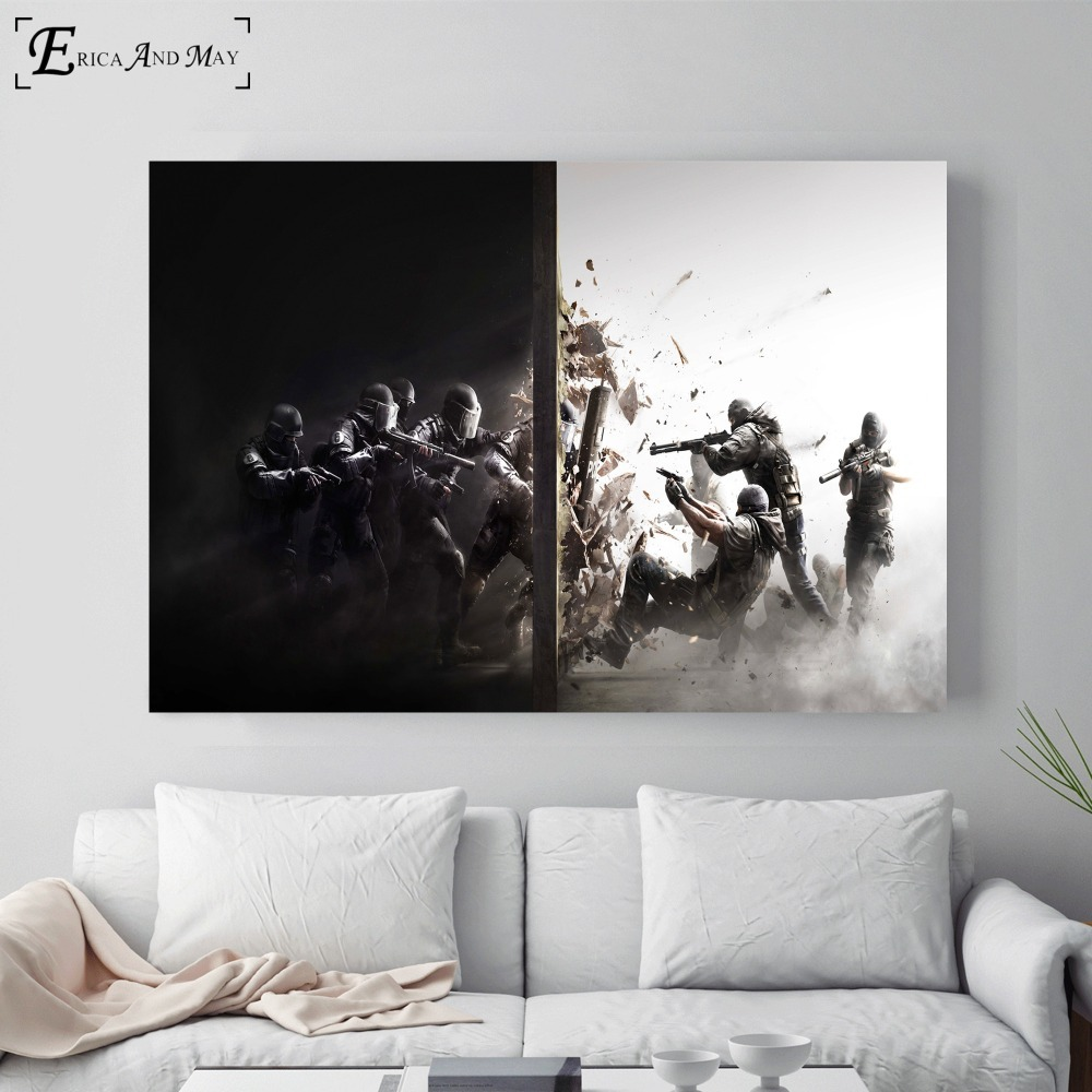 Rainbow Six Siege Video Artwork Posters And Prints Wall Art Decorative Picture Canvas Painting For Living Room Home Decor