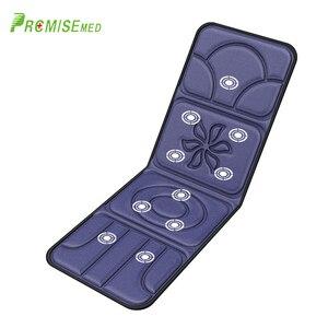 PRCMISEMED elektryczny przenośny ogrzewanie wibracyjny masaż pleców dalekiej podczerwieni krzesło ulga w bólu materac do masażu