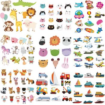 Wholesale Sticker Applique On Clothes Cute Animals Cars Iron On Transfer Diy Kid T-shirt Washable Accessory Patch Z-16 image