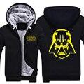 2016 Película de Star Wars: La Fuerza Despierta Zip Up Fleece Darth Vader Casco Súper Sudaderas Con Capucha Calientes Abrigos Sudaderas
