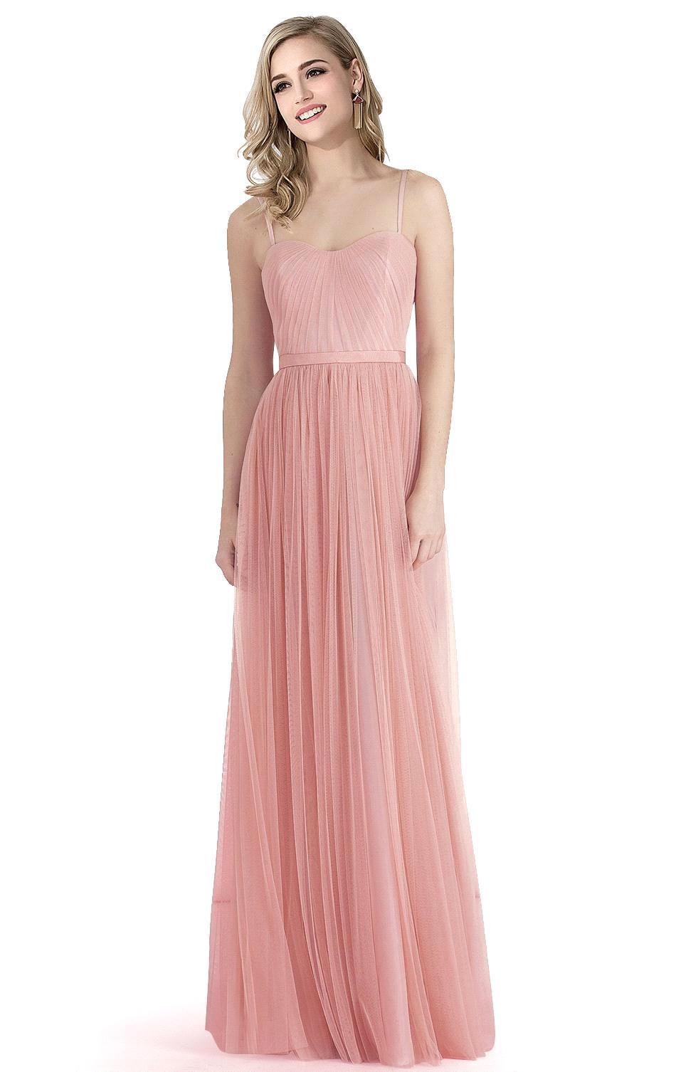 Perfecto Suaves Vestidos De Dama De Rosa Galería - Colección de ...