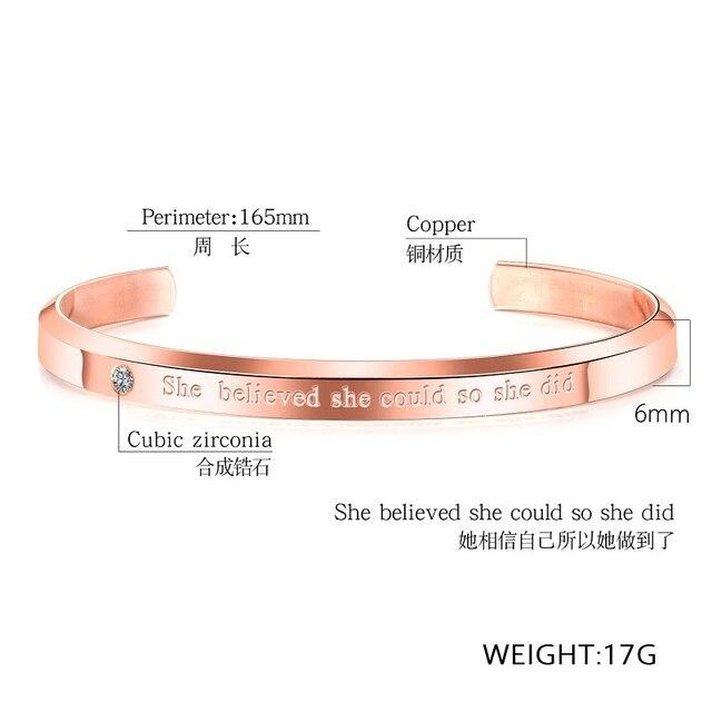 Купить женский браслет манжета с фианитами розовое золото картинки