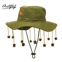 Outfly לוקח את נקבה פולק מכס 12 חרוזים טאסל כותנה כובע מרזבים רחבים boina כומתה כובע homme אתני feminina פנמה