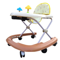 New Arrival Baby Walker Safety Anti Collision Foldable Toddler Walking Learning Aid Multifunctional Kids Feeding Seat