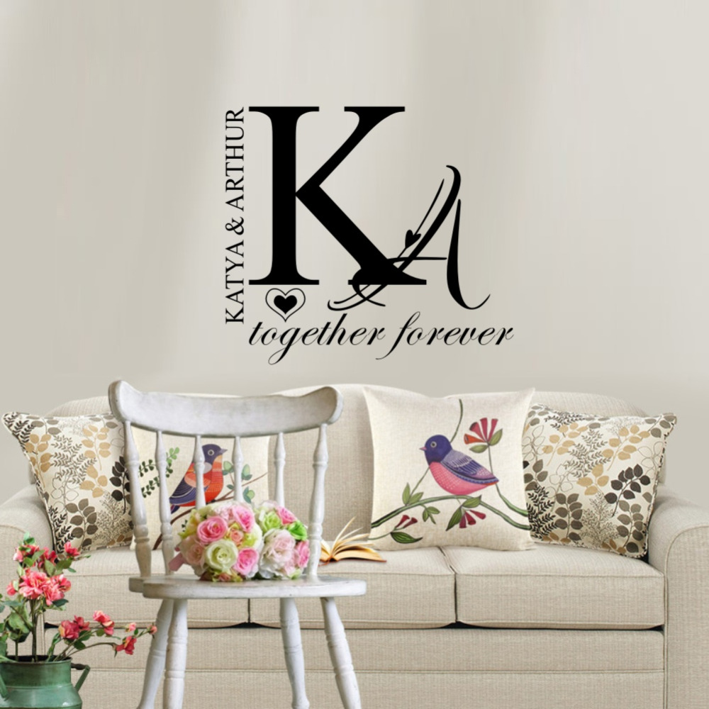 Personalized Couple Name Wall Sticker Creative Individual