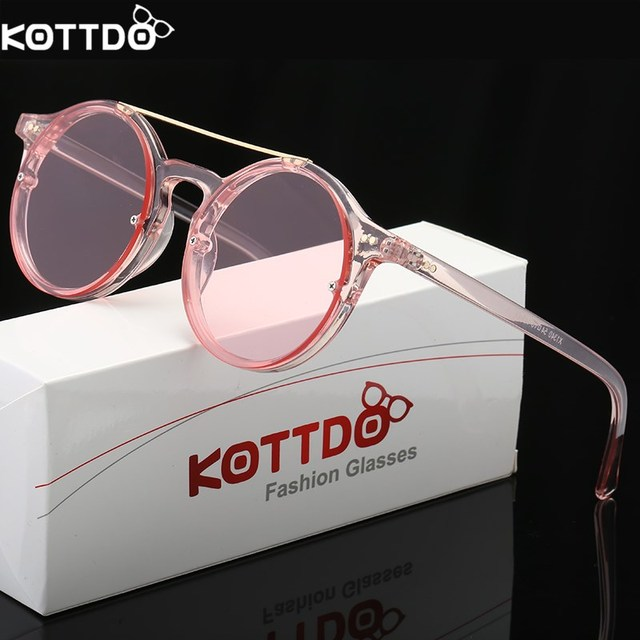 3ba56a217dbc KOTTDO 2018 Fashion Round Sunglasses Women Men Glasses Big Frame Retro  Vintage Sun Glasses Classic Lady Eyewear UV400
