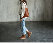 Vendange original manual female bag retro shopping cowleather shoulder bag 2192