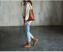 Vendange original manual female bag retro  shopping cowleather shoulder bag 2192