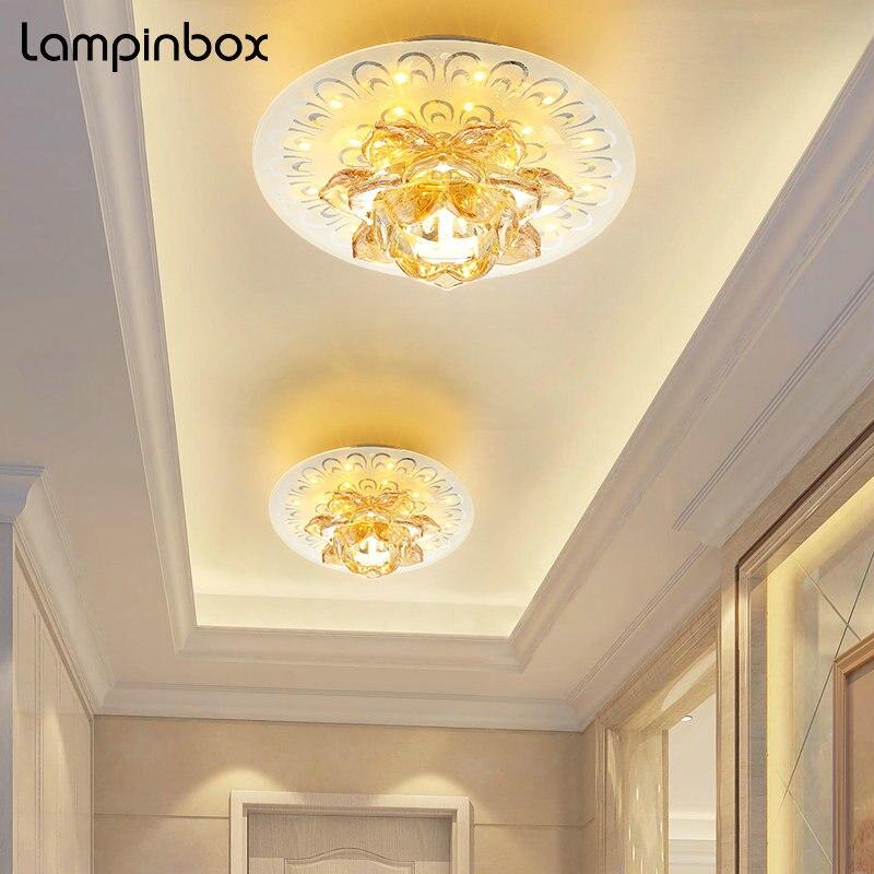6 Вт светодиодный кристалл потолочный светильник современный просто освещение Спальня Освещение в гостиную проход коридор светодиодный до...