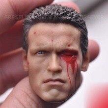 цена на Custom Arnold Schwarzenegger Head Sculpt 1/6 Scale War damage Edition T800 Head Carving model toys
