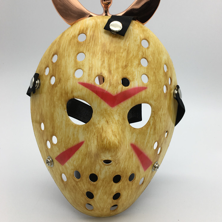 Jason Voorhees Freddy Hockey Festival Cosplay Halloween Masquerade Party Mask Yellow