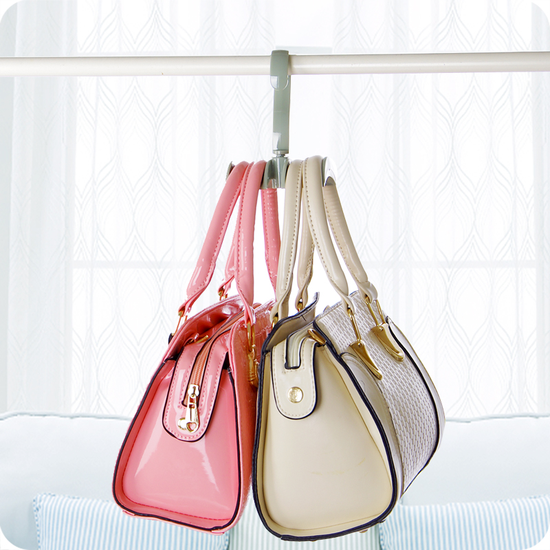 2pcs/lot Rotating Closet Hooks Storage Rack Organizer Hanger Holder For Women Handbag Belt Tie Scarf Online Discount Home Storage & Organization