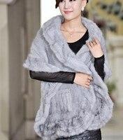 Европейская Высокая мода знаменитостей трикотажные пончо из норкового меха пальто, женские натуральный мех соболя палантины из пашмины Св