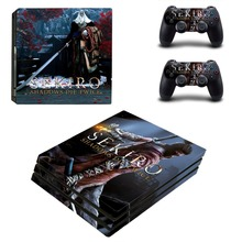 Sekiro Shadows Die Twice PS4 Pro Skin Sticker For Sony PlayStation 4 Pro Console and Controller PS4 Pro Sticker Decal