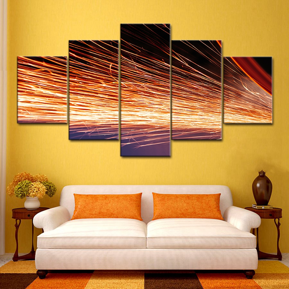 Modern Home Decoration Modular High Quality Spark Landscape Poster ...