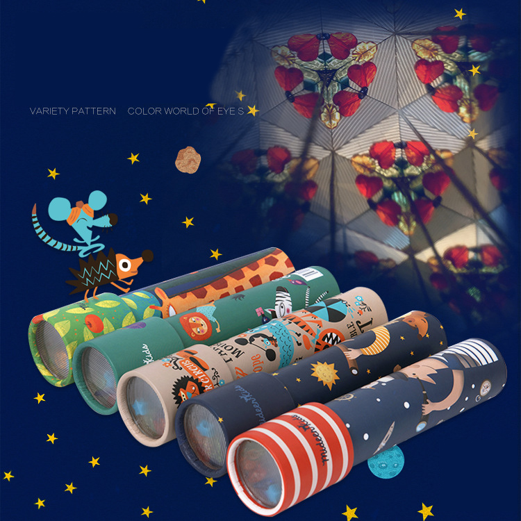 Mideer niños rotación caleidoscopio variedad Prism colorido mundo educación preescolar ciencia Juguetes