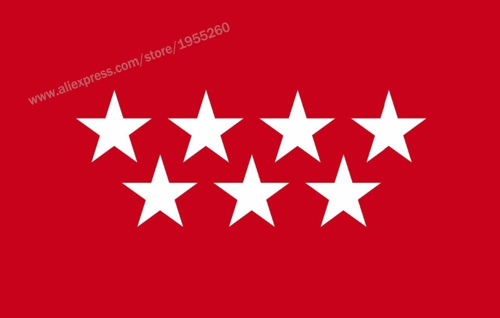 Флаг Мадрида 3x5 футов 90x150 см флаги Испании провинции баннеры