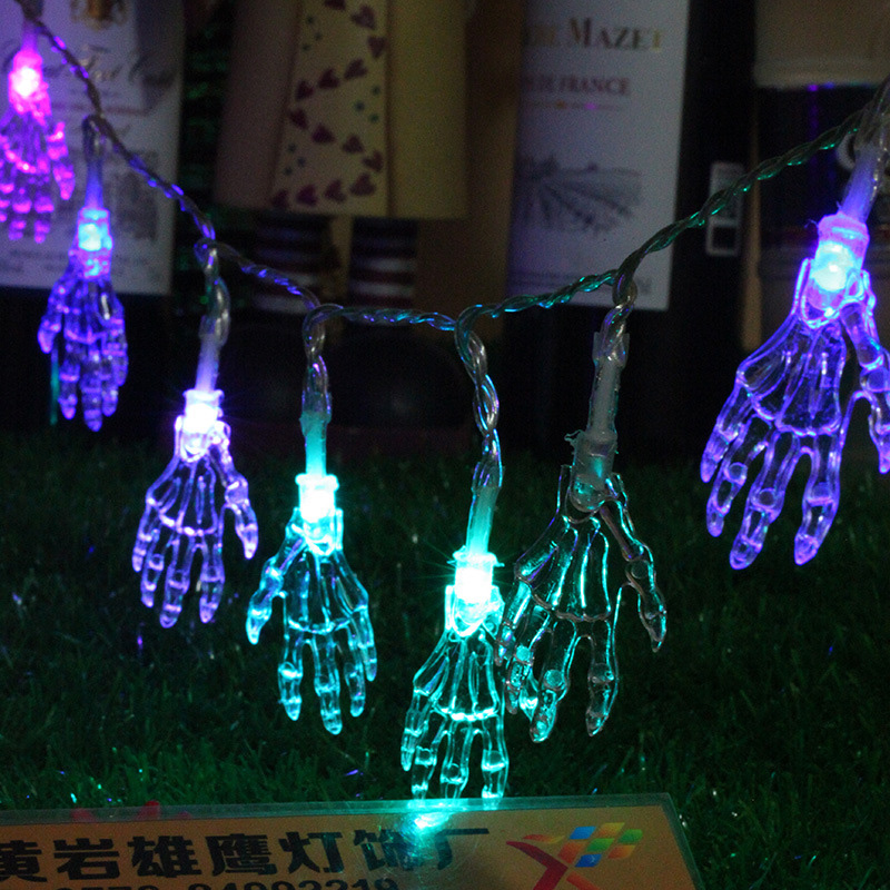 1.2m/10 Leds Ghost Hand Fairy String Lights Battery Powered For Bar Holiday Home Halloween Decoration Supplies Durable Service