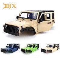 DJX Unassembled 12.3inch 313mm Wheelbase Body Car Shell for 1/10 RC Crawler jeep Wrangle Axial SCX10 & SCX10 II 90046 90047