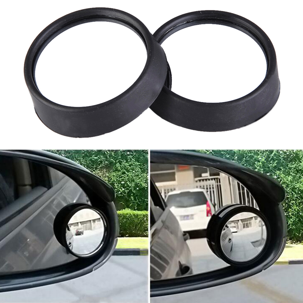 "2Pcs Silver Tone Car Round Convex Wide Angle Blind Spot Rear View Mirror 2/"" Dia"