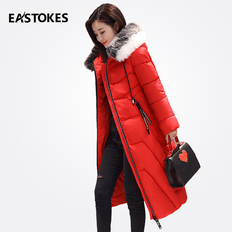 Women Winter Parkas With Patchwork Fur Collar Slim Cut Ladies Hooded Jackets Thick Padded Cotton Down Coats Female Outfits womens winter jackets and coats 2017 thick warm hooded down cotton padded parkas for women s wi