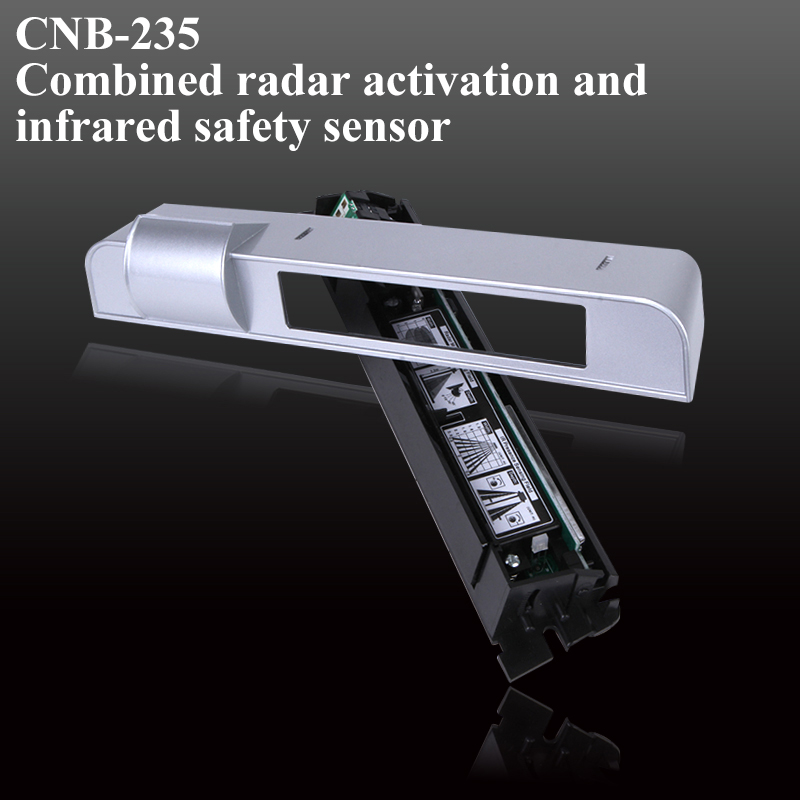 CNB-235 Microwave Infrared Safety And Radar Safety Sensor For Automatic Door Folding Door  Curve Door Anti-pinch