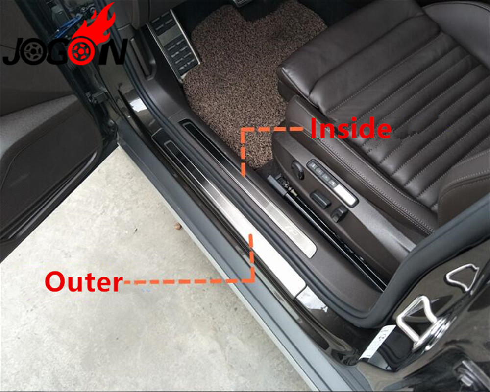 4pcs Stainless Steel Door sill scuff plate Guard Fit For Seat Leon 2011-2017
