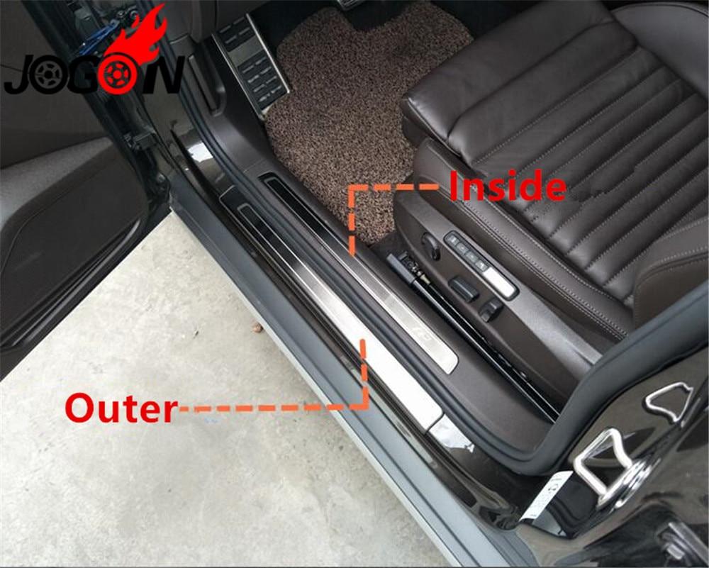 Accessories 8pcs Stainless Steel Door Sill Scuff Plate Car For VW Passat B8 Variant Alltrack 2015-2018 DON'T FOR Passat B8