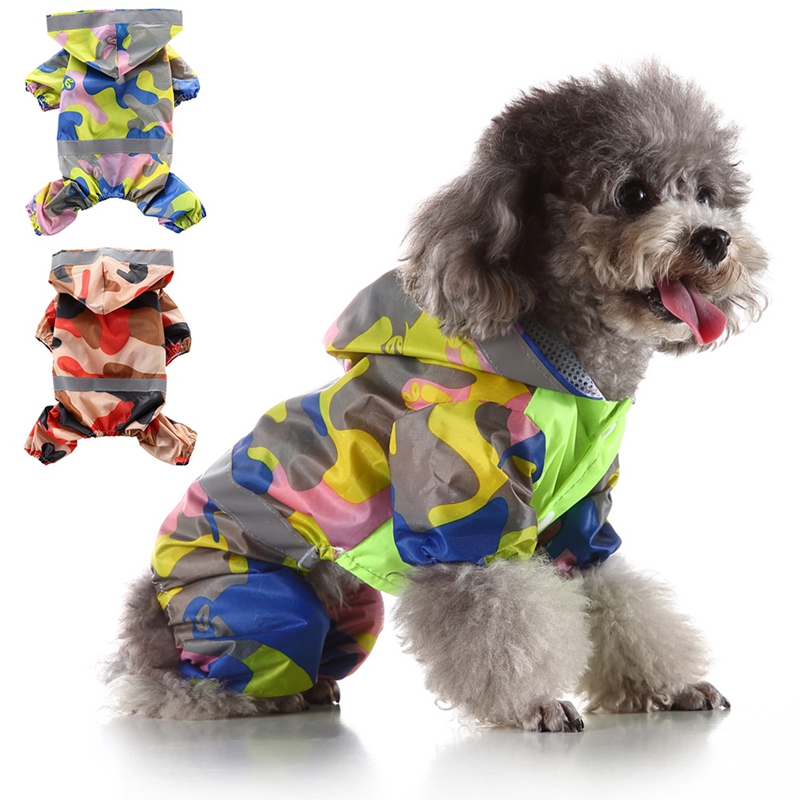 Cute Camouflage Color font b Pet b font Dog Raincoat For Small Dogs Waterproof font b