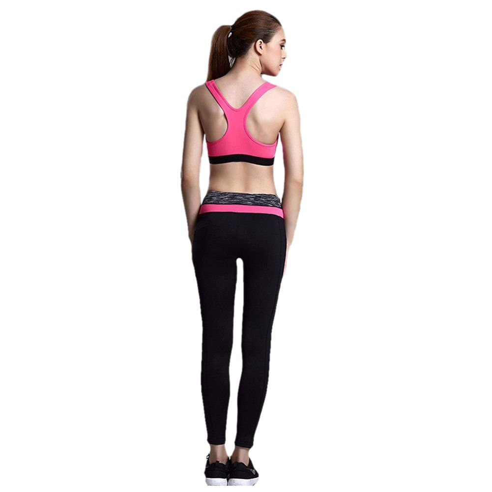 SOUTEAM Yoga Pants For Women Comfortable Highly Flexible Fitness Legging For Gym L pink
