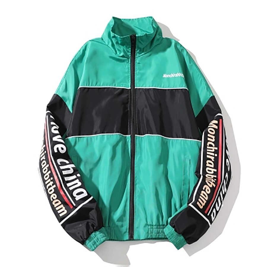 Primavera Vintage hombres chaquetas de verano Reggae Retro chaqueta  rompevientos hombres Streetwear Hip Hop Patchwork bloque a4e25339c41