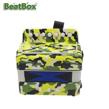 BeatBox High Quality 7-Key 2 Bass Mini Accordion Educational Musical Instrument